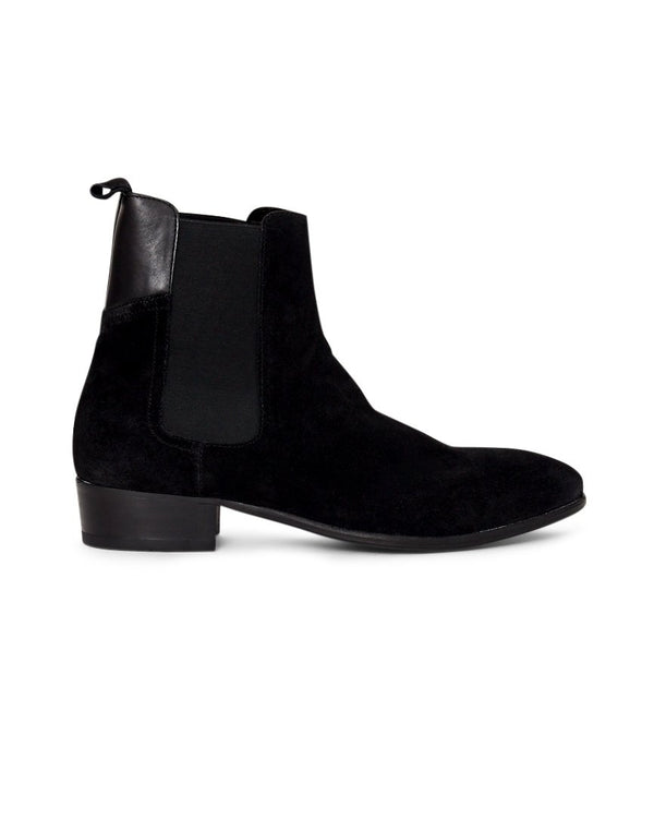 Hudson - Watts Suede Boot Black