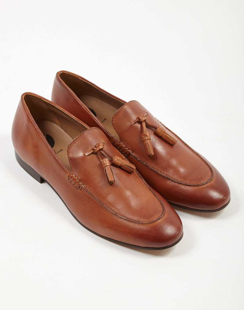 Hudson - Bolton Calf Tassle Loafer Tan