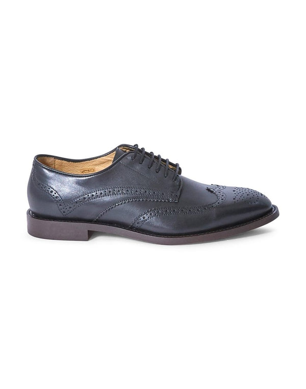 Hudson - Witman Calf Brogues Black