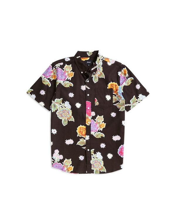 HUF - Botanica Floral Short Sleeve Shirt Black