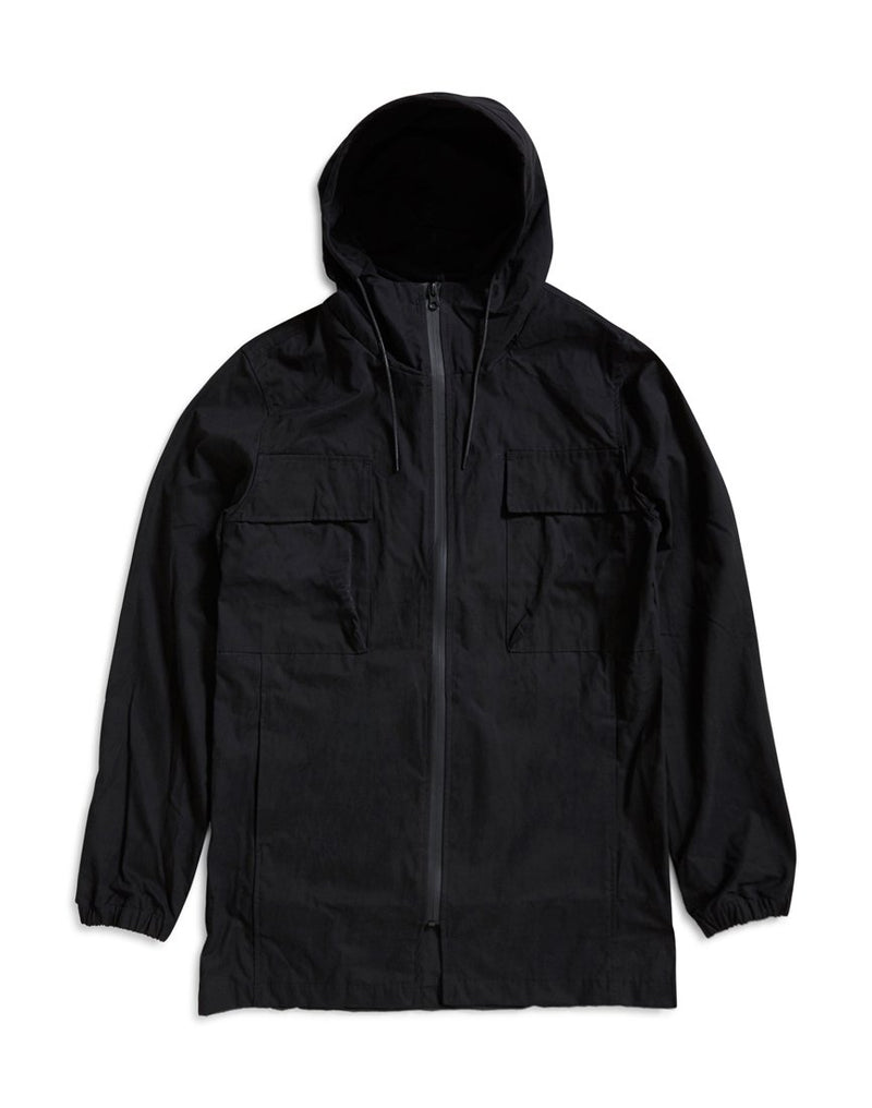 The Idle Man - Lightweight Twin Pocket Parka Black