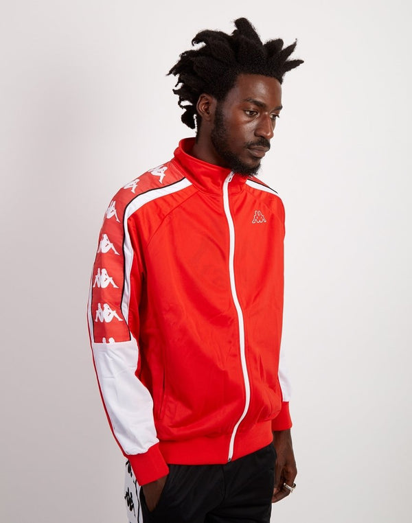 Kappa - Banda 10 Ahran Zip Up Jacket Red & White