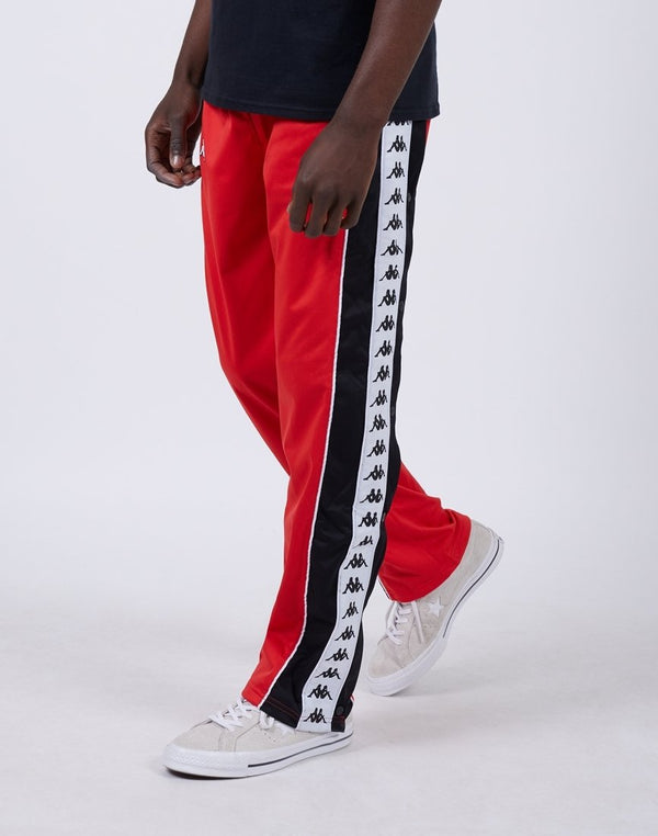 Kappa - Banda Big Bay Pants Red, Black & White