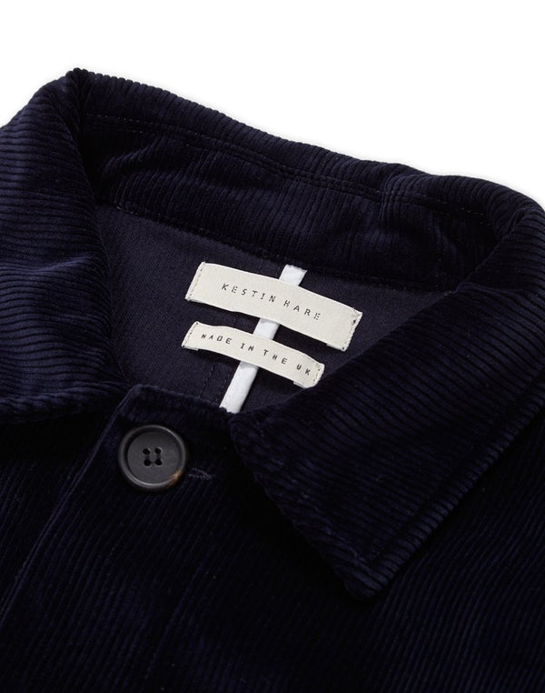 Kestin Hare - Cord Shop Coat Navy