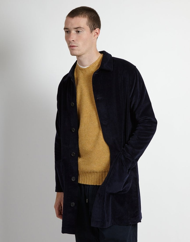 Kestin - Cord Shop Coat Navy