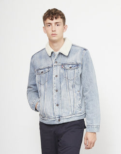 Levi's - Type 3 Sherpa Trucker Jacket Light Blue