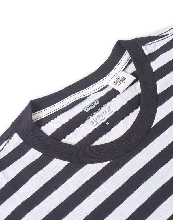 Levi's - Set-In Sunset Striped Pocket T-Shirt Black & White