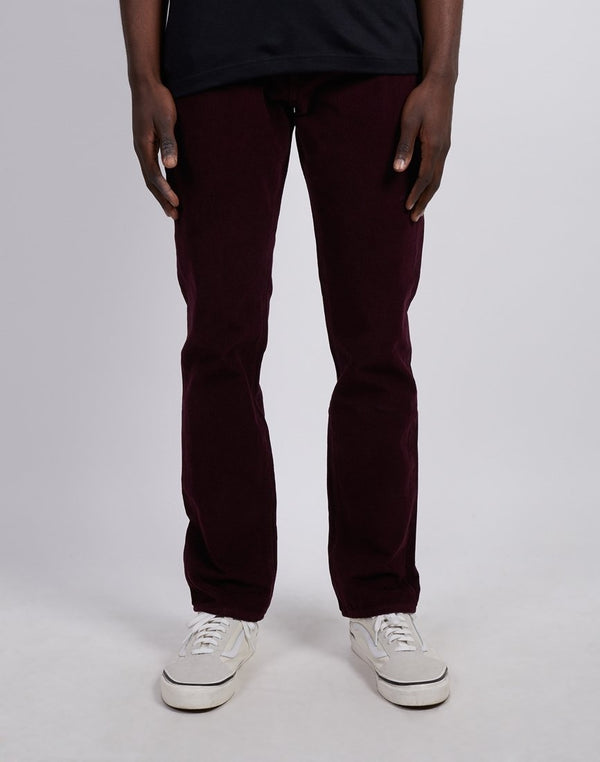 Levi's - 511 Slim Fit Cord Trousers Burgundy