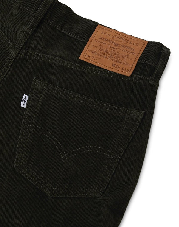 Levi's - 511 Slim Fit Cord Trousers Green