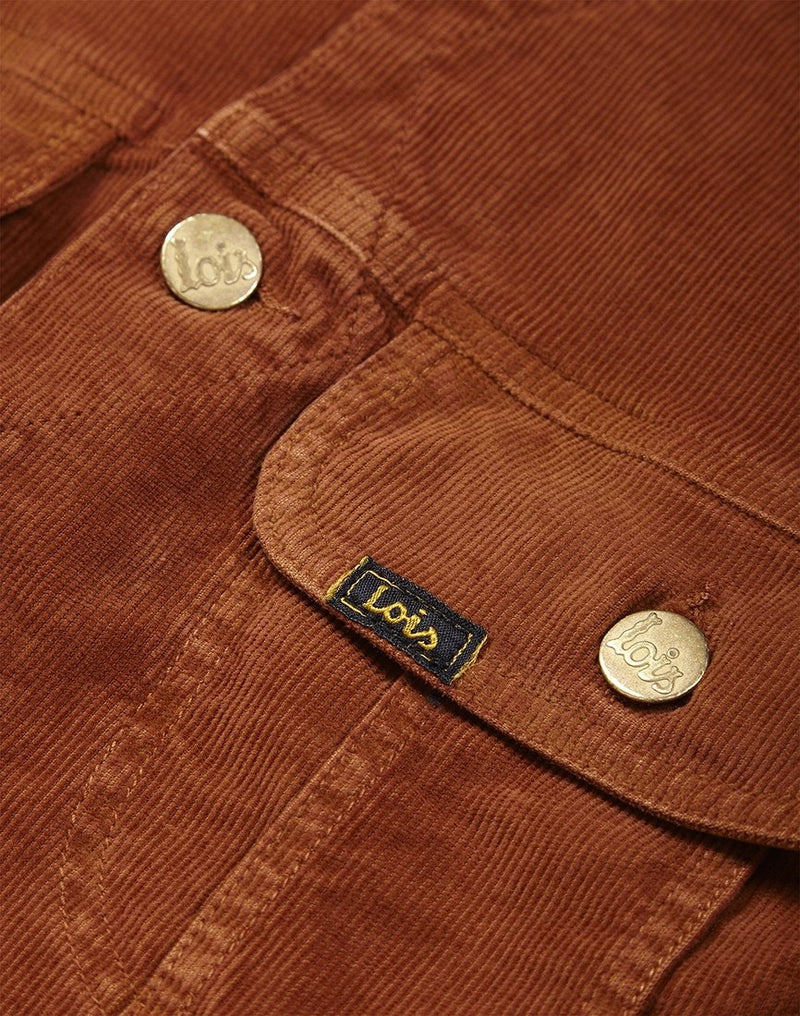 Lois Jeans - Tejana Western Jacket Needle Cord Brown