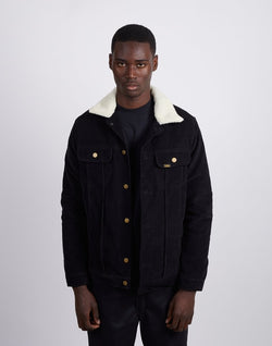 Lois Jeans - Tejana Cord Man Jacket Sherpa Lined Needle Cord Black