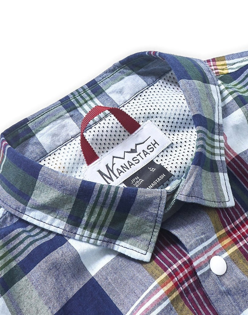 Manastash - Madras Vent Shirt Red