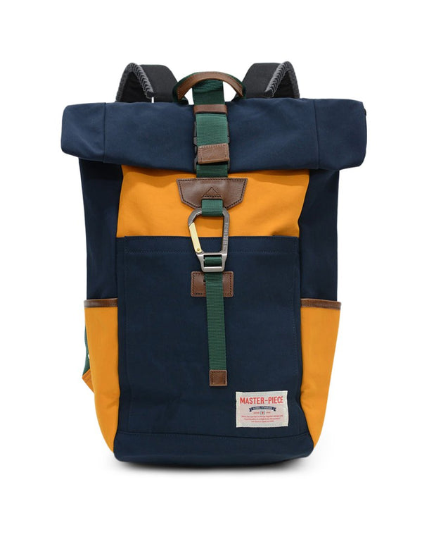 Master-Piece - Link Roll Top Backpack Navy & Yellow