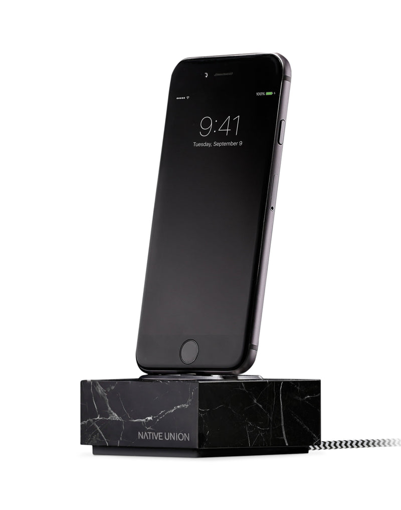 Native Union - Dock iPhone with Cable Marble Black