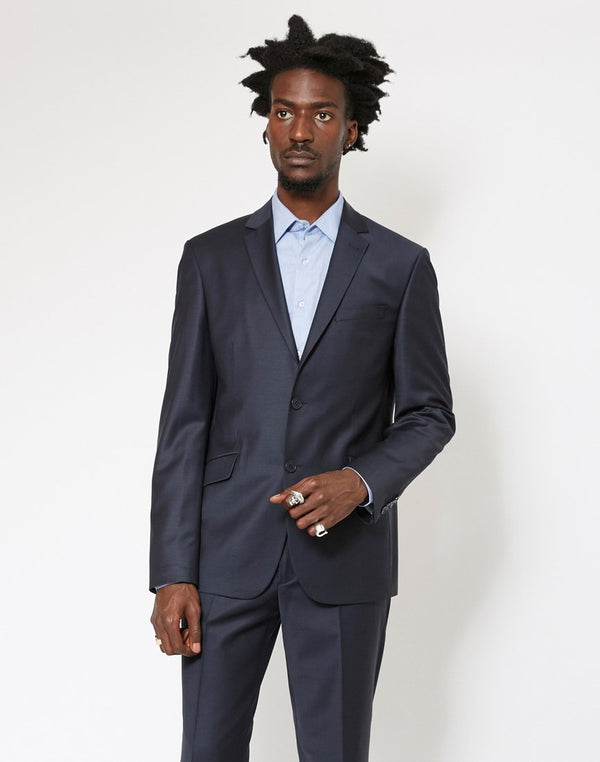 The Idle Man - Slim Fit Wool Suit Jacket Navy