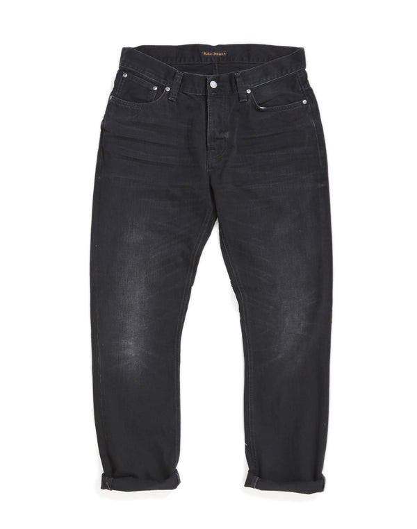 Nudie Jeans Co - Dude Dan Worn Rigid Jeans Black