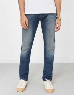 Nudie Jeans Co - Dude Dan Highway Worn Jeans Blue