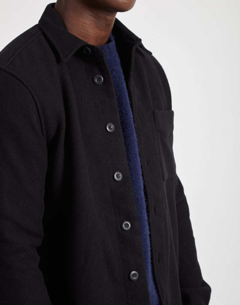 Nudie Jeans Co - Sten Wool Overshirt Black