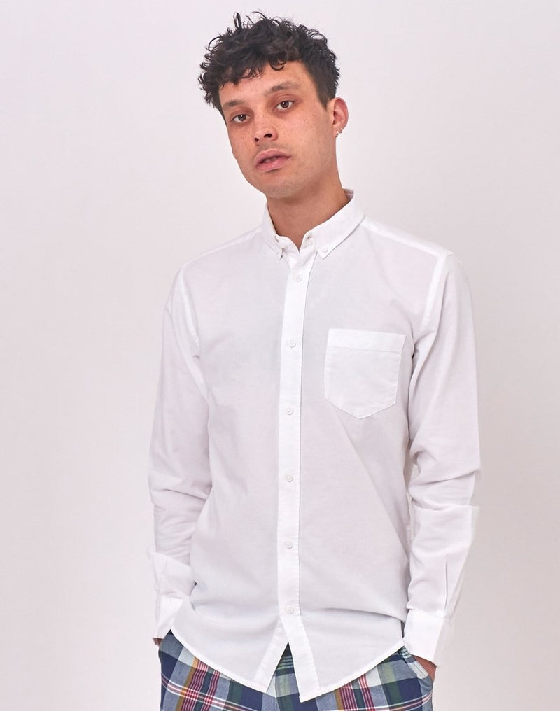 Only & Sons - Alvaro Long Sleeve Oxford Shirt White