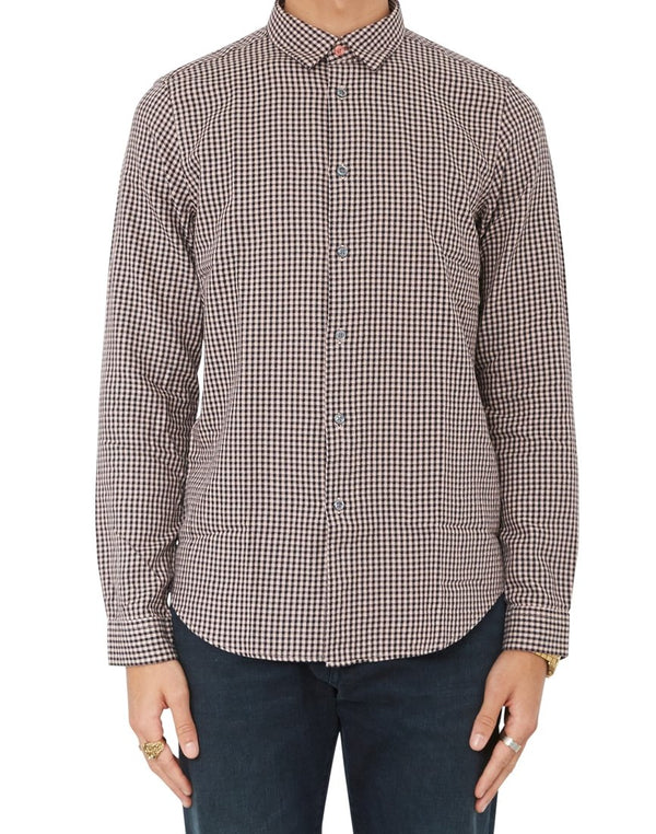 Paul Smith - Slim Fit Long Sleeve Shirt With Pink & Black Houndstooth