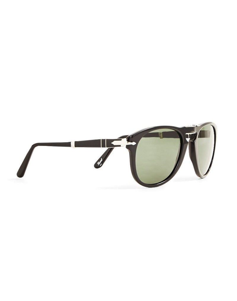 Persol - Foldable Crystal Lens Sunglasses PO0714 Black