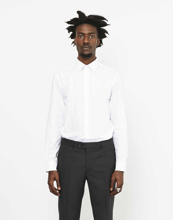 The Idle Man - Regular Smart Poplin Shirt White