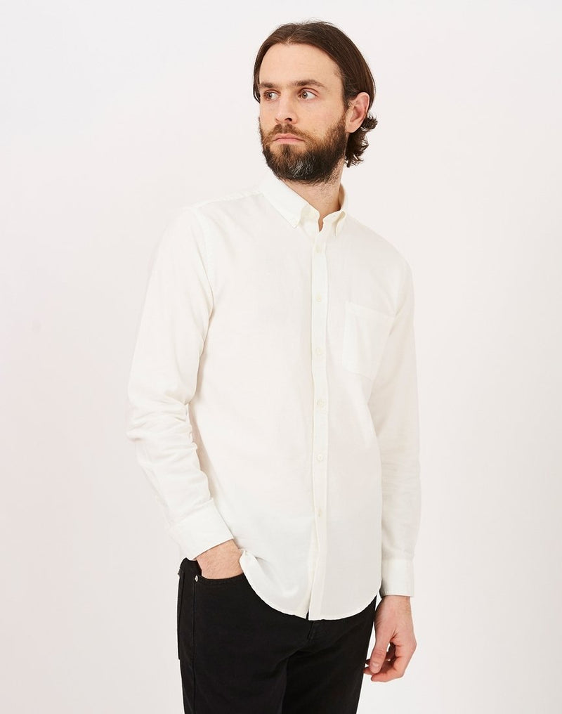 Portuguese Flannel - Belavista Long Sleeve Shirt Off White