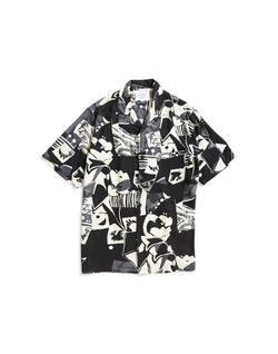 Portuguese Flannel - Cuca Black Short Sleeve Shirt Black
