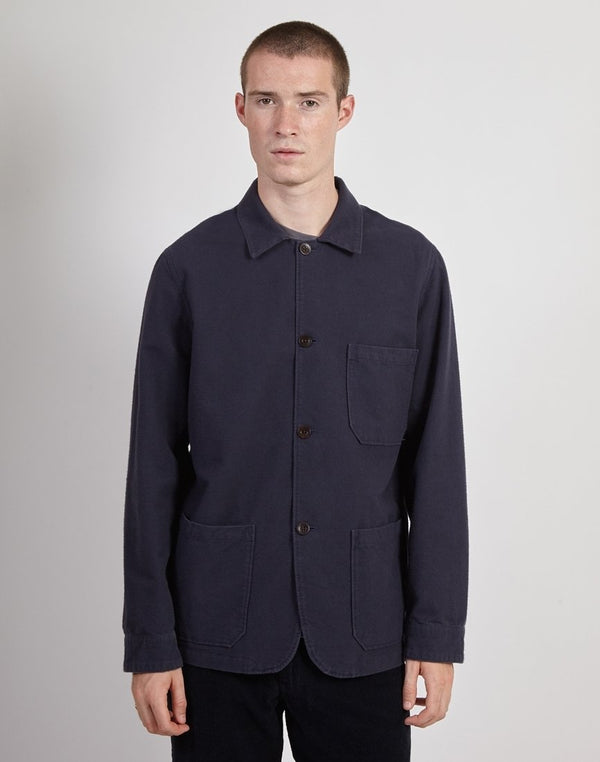 Portuguese Flannel - Pinhero Overshirt Navy