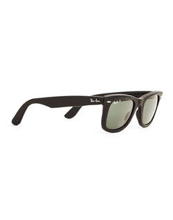 Ray Ban - Polarised Wayfarer Leather Sunglasses Large RB2140 1152N5
