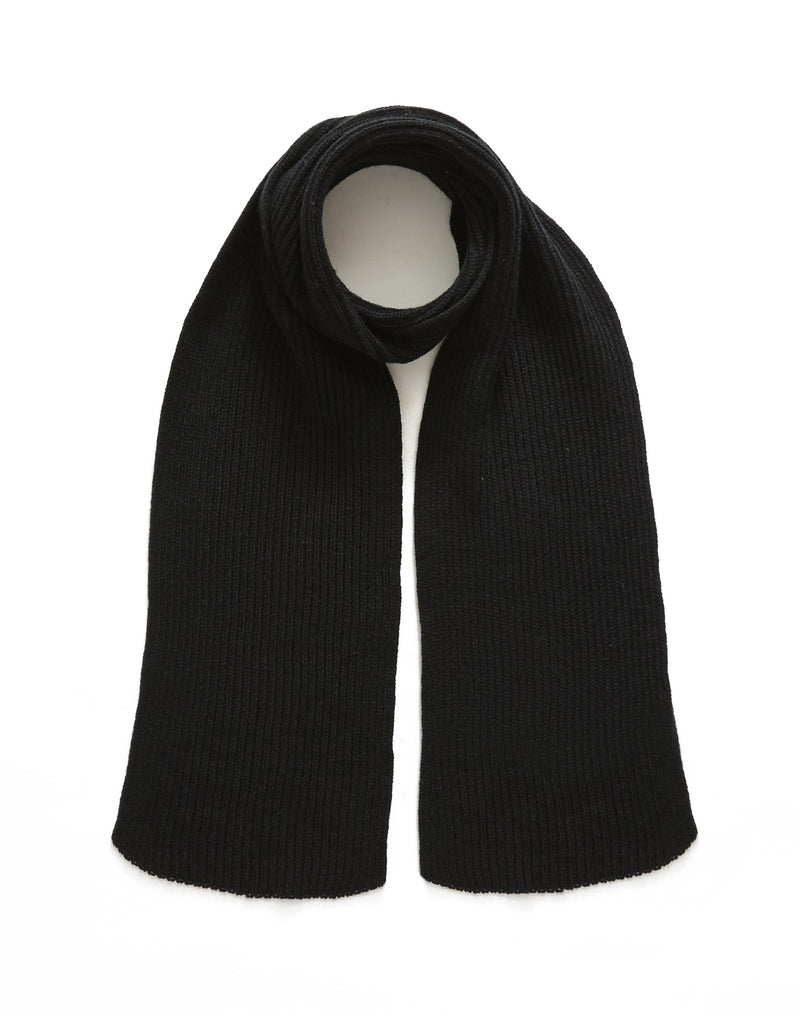 The Idle Man - Knitted Scarf Black