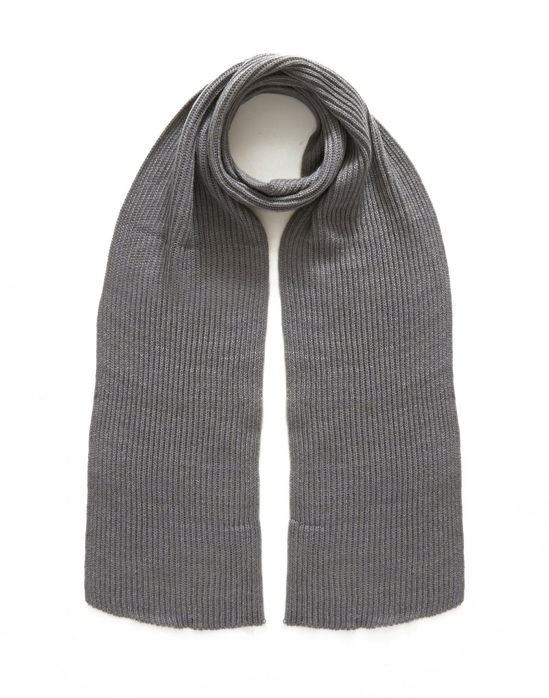 The Idle Man - Knitted Scarf Grey