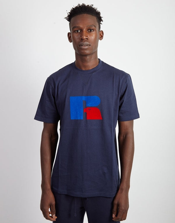 Russell Athletic - Jerry High Neck T-Shirt Navy