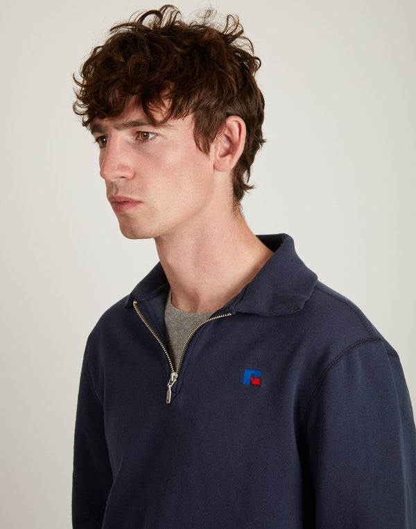 Russell Athletic - Keith 1/4 Zip Polo Sweatshirt Navy