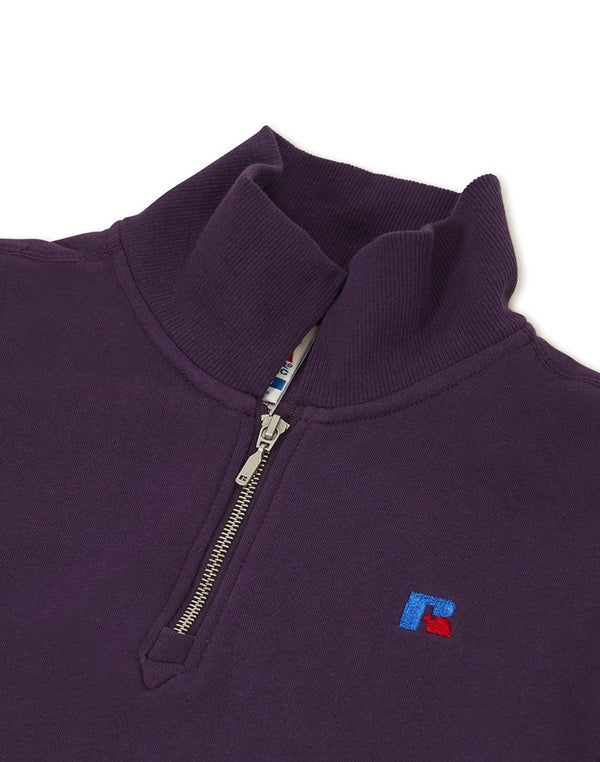 Russell Athletic - Keith 1/4 Zip Polo Sweatshirt Purple