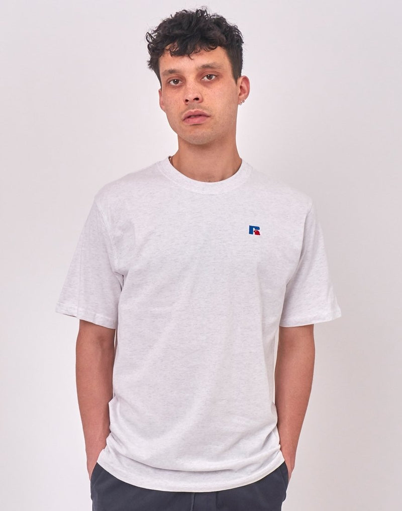Russell Athletic - Baseliners Tee Shirt Silver Marl