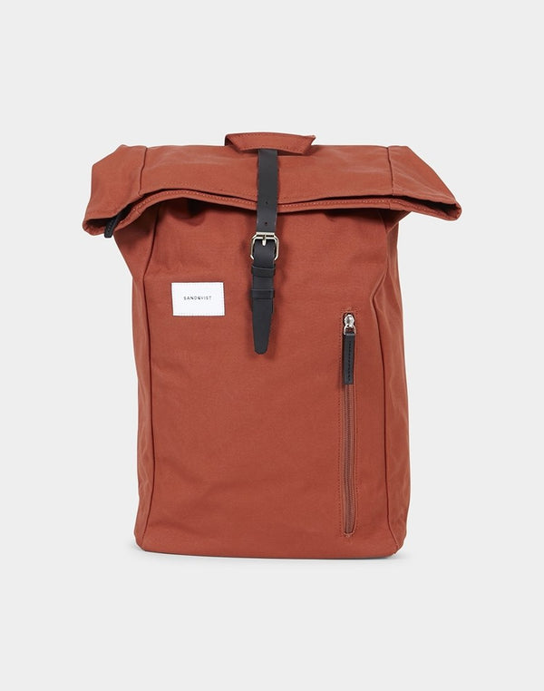Sandqvist - Dante Roll Top Backpack Rust