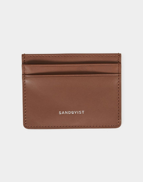 Sandqvist - Fred Leather Card Holder Cognac Brown