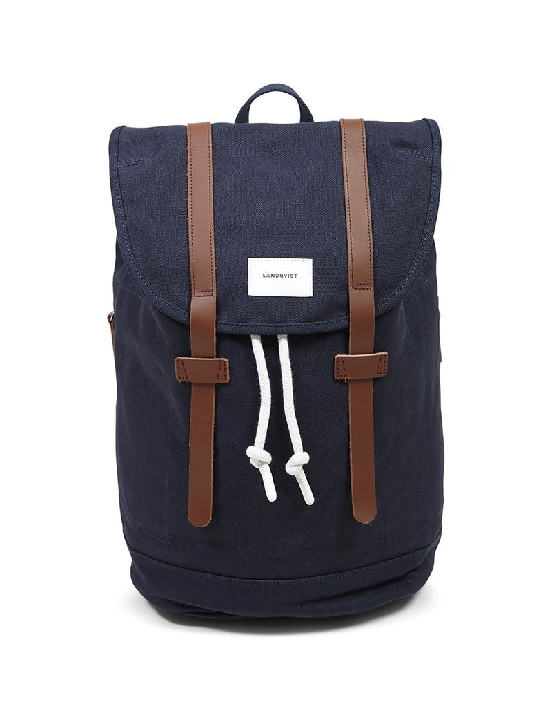 Sandqvist - Stig Large Backpack Blue - Navy