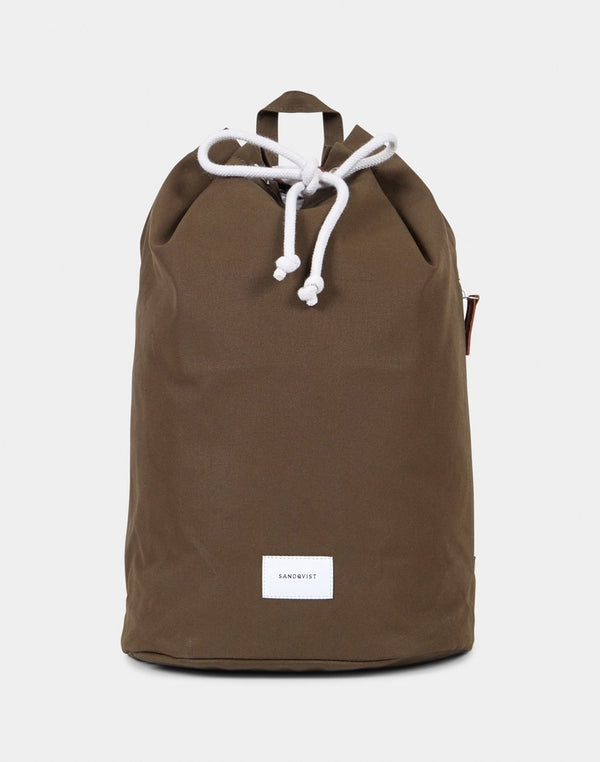 Sandqvist - Evert Drawstring Backpack Olive