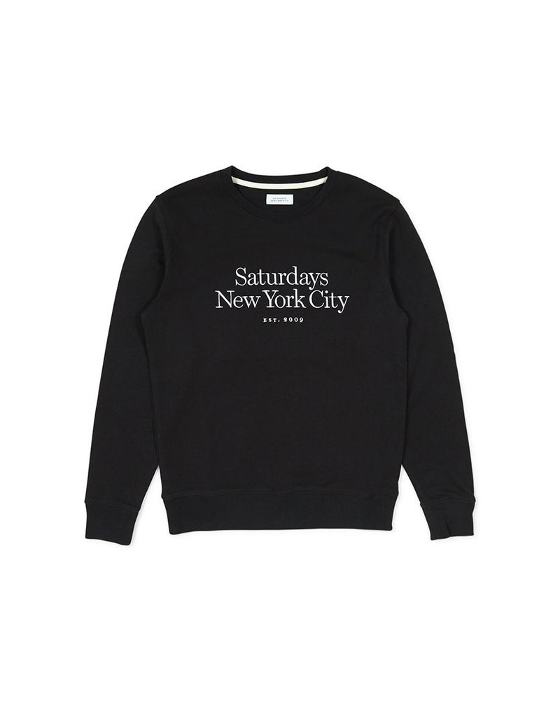 Saturdays NYC Bowery Miller Standard Embroidered Sweatshirt Black