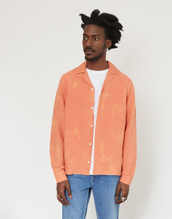 Saturdays NYC - Canty Long Sleeve Batik Dye Orange