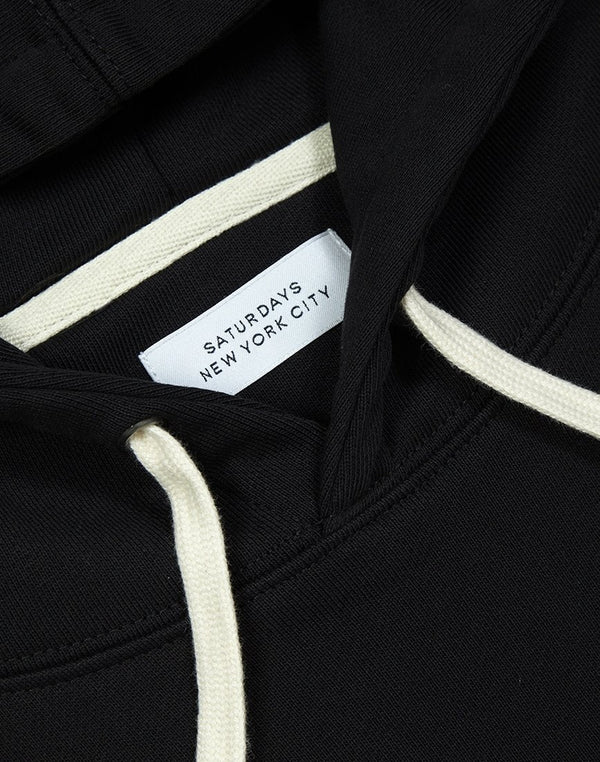 Saturdays NYC - Ditch Miller Standard Embroidered Hoodie Black
