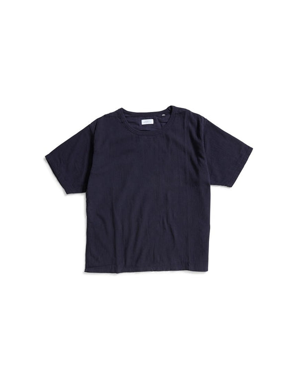 Saturdays NYC - Elliot Crepe T-Shirt Navy