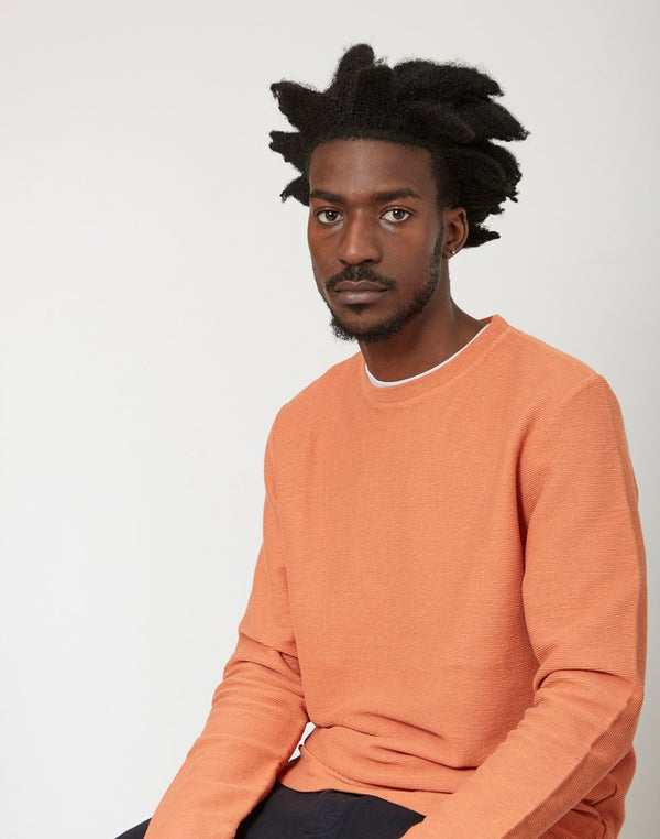 Saturdays NYC - Graham Horizontal Jumper Orange
