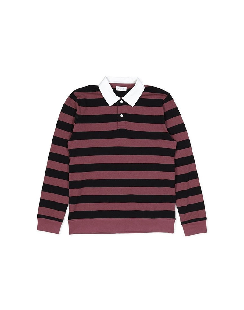 Saturdays NYC - Sanders Long Sleeve Striped T-Shirt Purple & Black