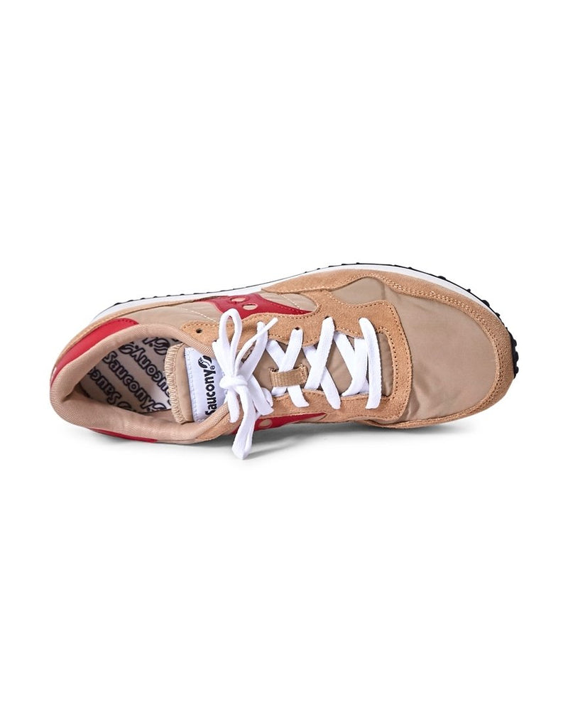 Saucony - DXN Vintage Trainer Tan & Red