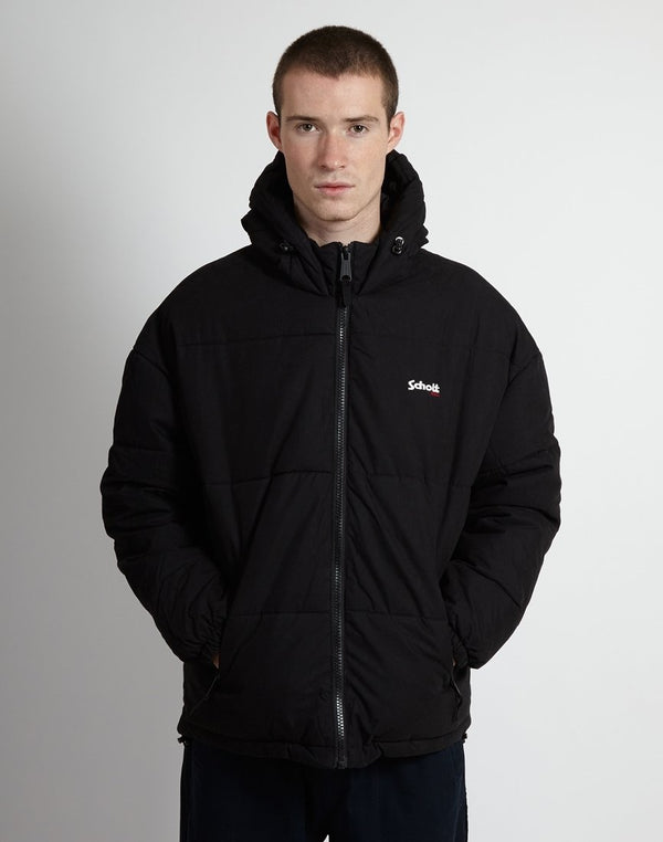 Schott NYC - Alaska Hooded Jacket Black