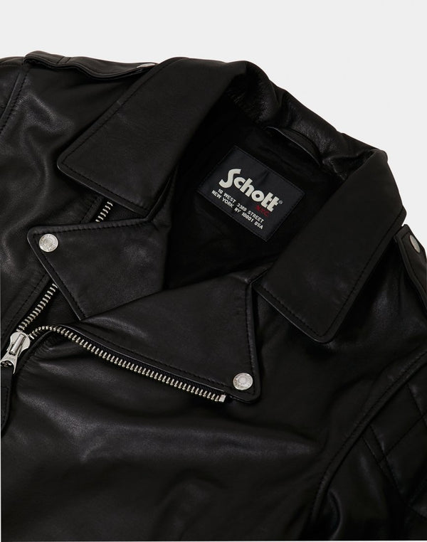 Schott NYC - LC Enfield Leather Jacket Black