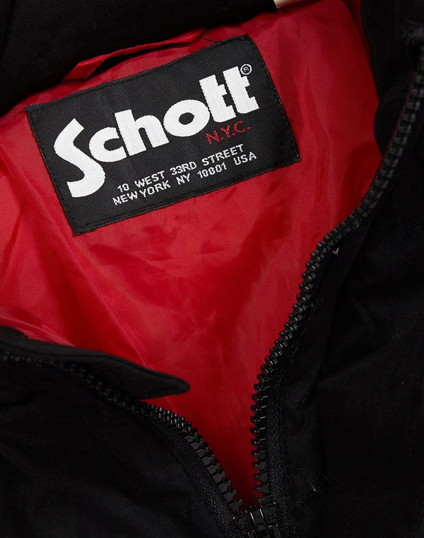 Schott NYC - Nebraska Hooded Jacket Black, White & Red